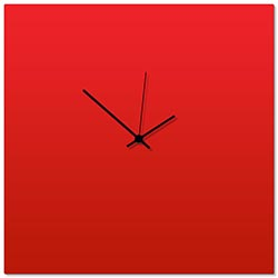 Redout Black Square Clock Large by Adam Schwoeppe - Contemporary Clock on Aluminum Polymetal