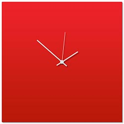 Redout White Square Clock Large by Adam Schwoeppe - Contemporary Clock on Aluminum Polymetal