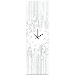 White Paint Splatter Clock by Adam Schwoeppe - Contemporary Decor on Plexiglass