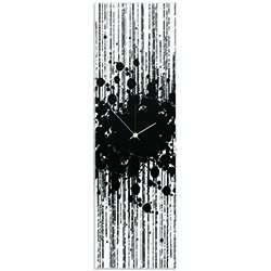 Black Paint Splatter Clock by Adam Schwoeppe - Contemporary Decor on Plexiglass