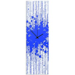 Blue Paint Splatter Clock by Adam Schwoeppe - Contemporary Decor on Plexiglass
