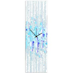 Cool Paint Splatter Clock 9x30in. Plexiglass