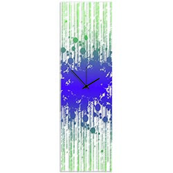 Throwback Paint Splatter Clock by Adam Schwoeppe - Contemporary Decor on Plexiglass