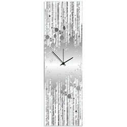 Silver Paint Splatter Clock by Adam Schwoeppe - Contemporary Decor on Plexiglass