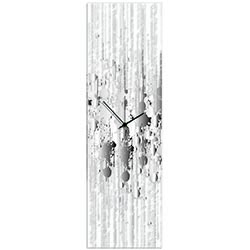 Black and White Paint Splatter Clock by Adam Schwoeppe - Contemporary Decor on Plexiglass