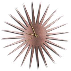 Adam Schwoeppe MCM Starburst Clock Copper Gold Midcentury Modern Style Wall Clock