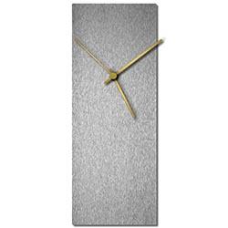Adam Schwoeppe Silversmith Clock Large Gold Midcentury Modern Style Wall Clock