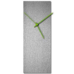 Adam Schwoeppe Silversmith Clock Large Green Midcentury Modern Style Wall Clock