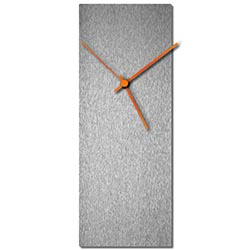 Adam Schwoeppe Silversmith Clock Large Orange Midcentury Modern Style Wall Clock