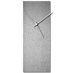Adam Schwoeppe Silversmith Clock White Midcentury Modern Style Wall Clock
