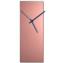 Adam Schwoeppe Coppersmith Clock Blue Midcentury Modern Style Wall Clock