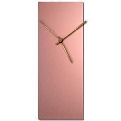 Adam Schwoeppe Coppersmith Clock Bronze Midcentury Modern Style Wall Clock