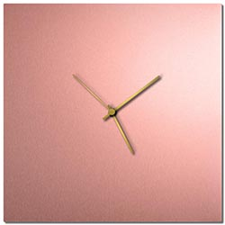 Adam Schwoeppe Coppersmith Square Clock Large Gold Midcentury Modern Style Wall Clock