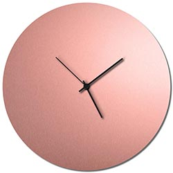 Adam Schwoeppe Coppersmith Circle Clock Large Black Midcentury Modern Style Wall Clock