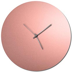 Adam Schwoeppe Coppersmith Circle Clock Silver Midcentury Modern Style Wall Clock