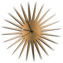 Adam Schwoeppe MCM Starburst Clock Bronze Black Midcentury Modern Style Wall Clock