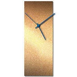 Adam Schwoeppe Bronzesmith Clock Blue Midcentury Modern Style Wall Clock