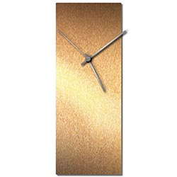 Adam Schwoeppe Bronzesmith Clock Large Silver Midcentury Modern Style Wall Clock