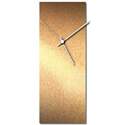 Adam Schwoeppe Bronzesmith Clock Large White Midcentury Modern Style Wall Clock