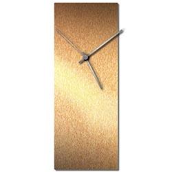 Adam Schwoeppe Bronzesmith Clock Silver Midcentury Modern Style Wall Clock