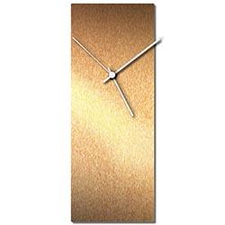 Adam Schwoeppe Bronzesmith Clock White Midcentury Modern Style Wall Clock