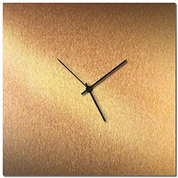 Adam Schwoeppe Bronzesmith Square Clock Large Black Midcentury Modern Style Wall Clock