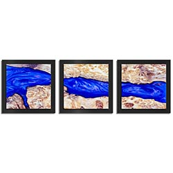 Adam Schwoeppe River Wood Essence Black 38in x 12in Contemporary Style Wood Wall Art