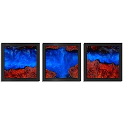 Adam Schwoeppe Extreme Wood Essence Black 38in x 12in Contemporary Style Wood Wall Art
