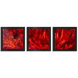 Adam Schwoeppe Crimson Wood Essence Black 38in x 12in Contemporary Style Wood Wall Art