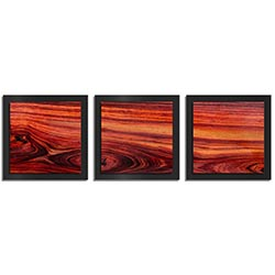 Adam Schwoeppe Warm Wood Essence Black 38in x 12in Contemporary Style Wood Wall Art