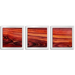 Adam Schwoeppe Warm Wood Essence White 38in x 12in Contemporary Style Wood Wall Art