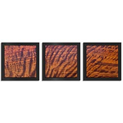 Adam Schwoeppe Rippled Wood Essence Black 38in x 12in Contemporary Style Wood Wall Art