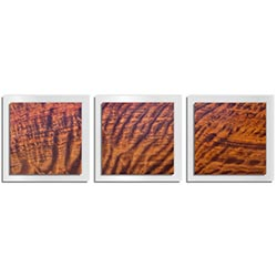 Adam Schwoeppe Rippled Wood Essence White 38in x 12in Contemporary Style Wood Wall Art