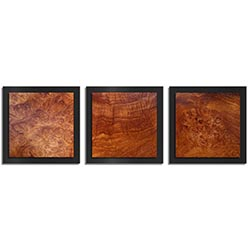 Adam Schwoeppe Swirled Wood Essence Black 38in x 12in Contemporary Style Wood Wall Art