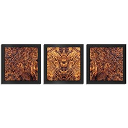 Adam Schwoeppe Mirrored Wood Essence Black 38in x 12in Contemporary Style Wood Wall Art