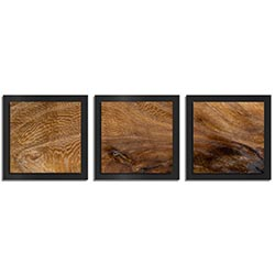 Adam Schwoeppe Knotted Wood Essence Black 38in x 12in Contemporary Style Wood Wall Art