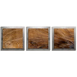 Adam Schwoeppe Knotted Wood Essence Silver 38in x 12in Contemporary Style Wood Wall Art