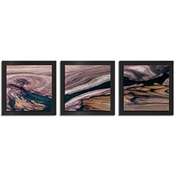 Adam Schwoeppe Scarred Wood Essence Black 38in x 12in Contemporary Style Wood Wall Art