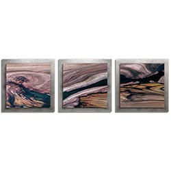 Adam Schwoeppe Scarred Wood Essence 16 Silver 38in x 12in Contemporary Style Wood Wall Art