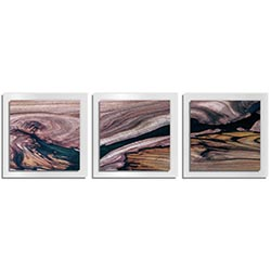 Adam Schwoeppe Scarred Wood Essence 16 White 38in x 12in Contemporary Style Wood Wall Art