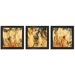 Adam Schwoeppe Feathered Wood Essence Black 38in x 12in Contemporary Style Wood Wall Art