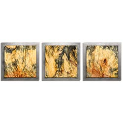 Adam Schwoeppe Feathered Wood Essence Silver 38in x 12in Contemporary Style Wood Wall Art