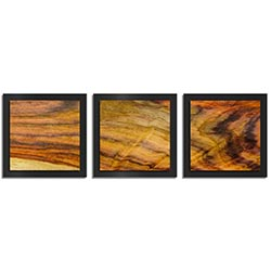 Adam Schwoeppe Streaked Wood Essence Black 38in x 12in Contemporary Style Wood Wall Art