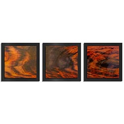 Adam Schwoeppe Burnt Wood Essence Black 38in x 12in Contemporary Style Wood Wall Art