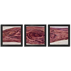 Adam Schwoeppe Rose Wood Essence Black 38in x 12in Contemporary Style Wood Wall Art