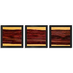 Adam Schwoeppe Striped Wood Essence Black 38in x 12in Contemporary Style Wood Wall Art