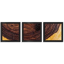 Adam Schwoeppe Bold Wood Essence Black 38in x 12in Contemporary Style Wood Wall Art