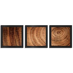 Adam Schwoeppe Rich Wood Essence Black 38in x 12in Contemporary Style Wood Wall Art