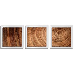 Adam Schwoeppe Rich Wood Essence White 38in x 12in Contemporary Style Wood Wall Art