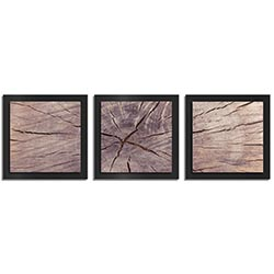 Adam Schwoeppe Cracked Wood Essence Black 38in x 12in Contemporary Style Wood Wall Art